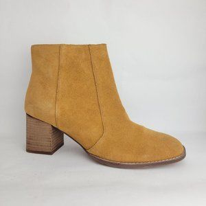 NEW Madewell Bryce Suede Ankle Boot Tan Women's 10